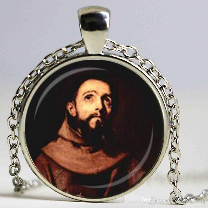 Wholesale st francis pendant st francis of assisi necklace spiritual wholesale st francis pendant st francis of assisi necklace spiritual jewelry animal lover jewelry religious pendant inspirational necklace coin pendant aloadofball Choice Image