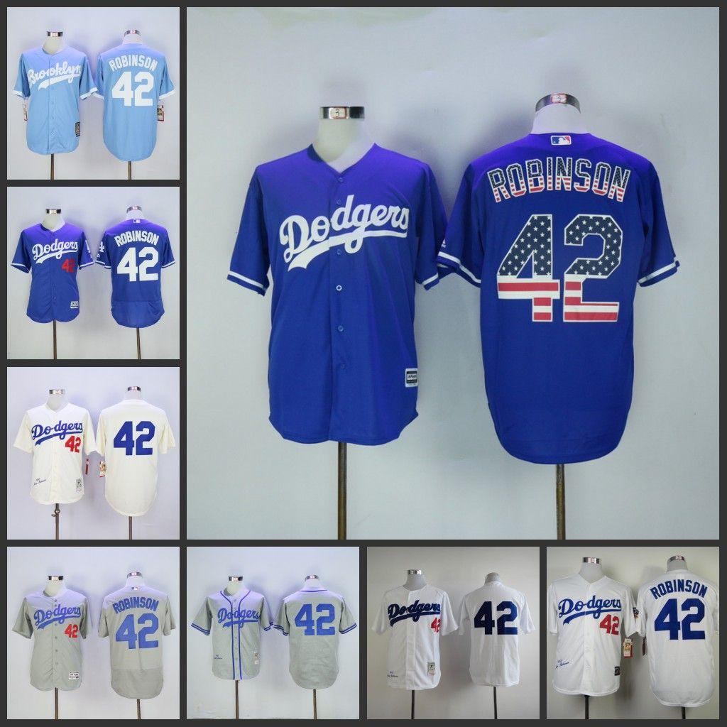 35894fe9 1955 LA Los Angeles Dodgers 42 Jackie Robinson Jersey Gray White Cream,  2017 Mens Los Angeles Dodgers 42 Jackie Robinson Throwback 1995 Hof MN White  Hemp ...