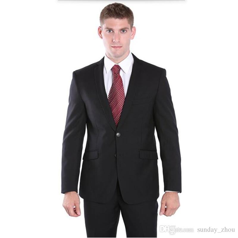 Solid color groom suits tuxedos new design wedding suits tuxedos blue lapel single breasted groomsman party dress suitsjacket+pants