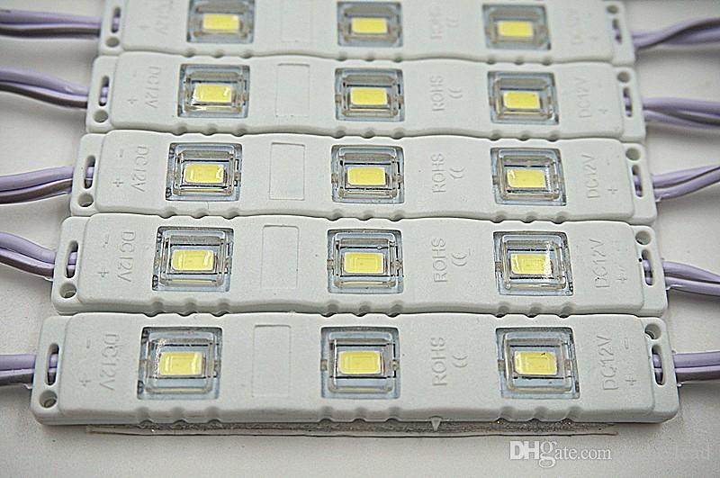 LED Module 5730 12V Injection Molding Module Clear Lens Waterproof IP65 red Green Blue Yellow Pink Warm white