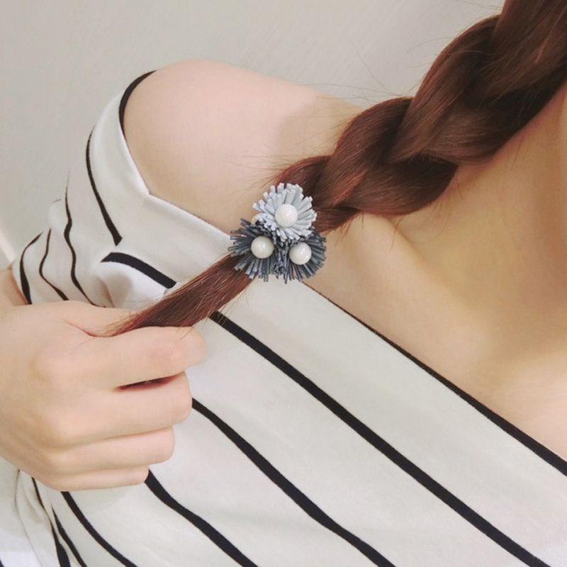 Pearl Hair Accessories Daisy Flower Hair Rope for Women Fashion Elastic Headband Hair Ring Fabric Pony Tails Holder Hot Sale Headdress