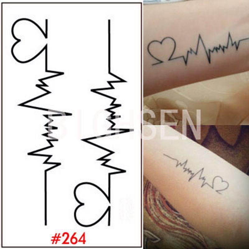Al Por Mayor 1 Hoja Tatuaje Plantilla Pegatinas Temporales Dedo Body