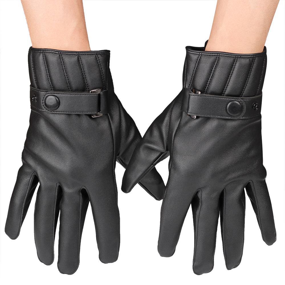 6d9952565 Wholesale- FDNWB - Men s Winter Gloves Leather Glove Trendy Sheepskin  Winter New Thicken Men s Gloves