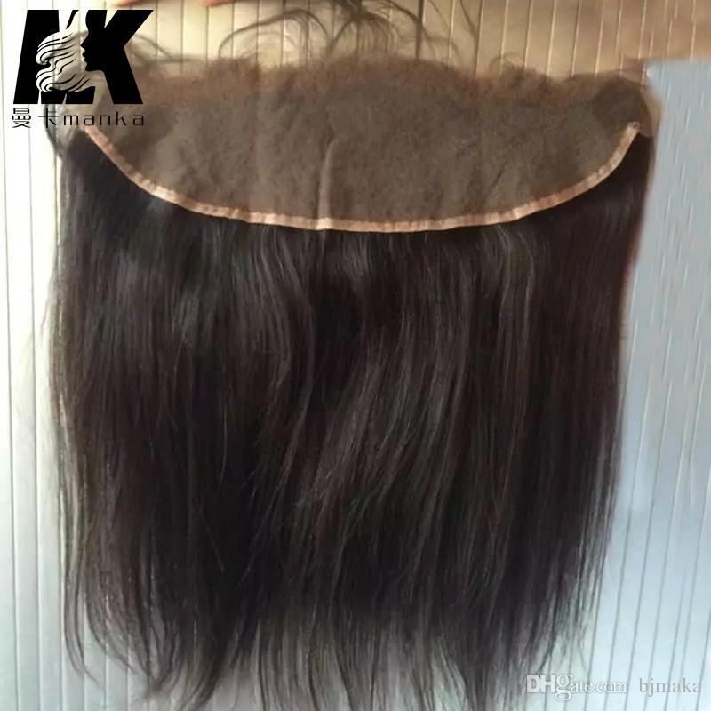Pre Zupfspitze-Frontal-Verschluss mit dem Babyhaar-natürlichen Haaransatz von Ohr zu Ohrspitze-Frontal-Jungfrau-Brasilianer-Haar