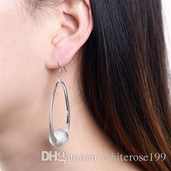 Partihandel - lägsta pris julklapp 925 sterling silver mode örhängen ye133