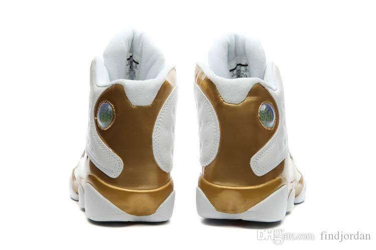 2018 New 13 Men basketball shoes Golden White DMP Defining Moments Sports designer shoe Trainers running Sneakers
