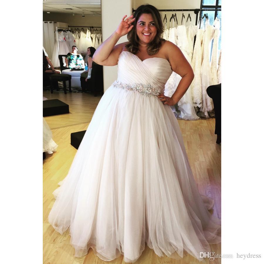 Großhandel Einfache Plus Size Brautkleider 2017 Schatz Eine Linie ...