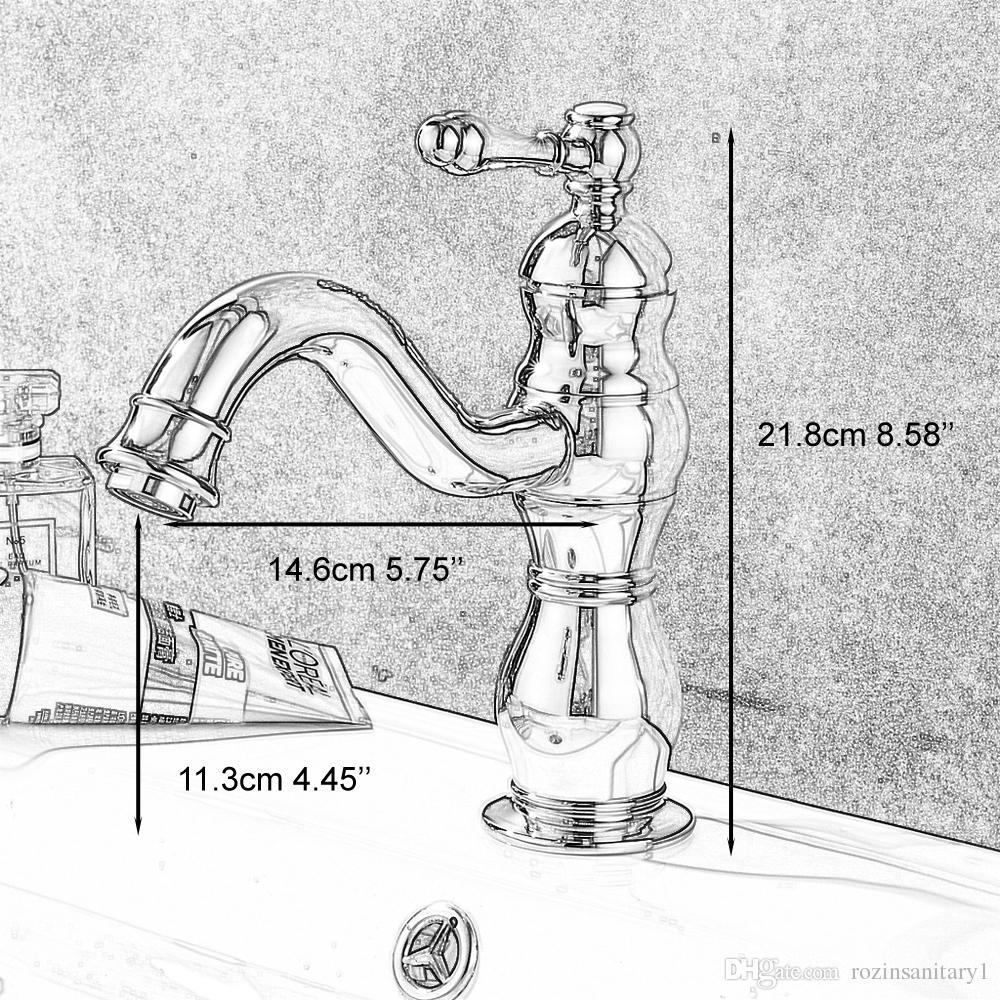 Bathroom Basin Faucet Single Hole Single Handle Vessel Sink Mixer Tap Deck Mounted