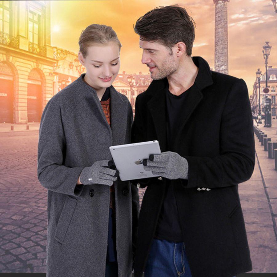 iwarm Anti-Rutsch-Touch-Kapazitäts-Bildschirm-Handschuhe warme Winterfahrhandschuhe-Touchscreen für Handy ipad iPhone Tablet