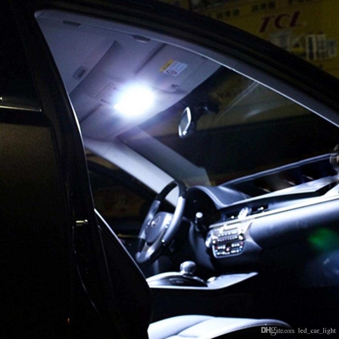 Car Reading Light 12V White 5W COB Automobile 211 Festoon T10 Dome Bulb With Aluminium Shell