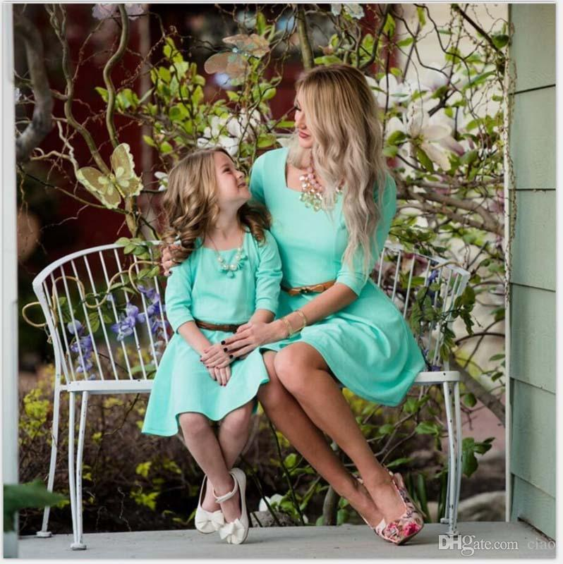 Family matching clothing mother daughter matching dresses mother and daughter clothes mom daughter dresses princess dresses for kids A772