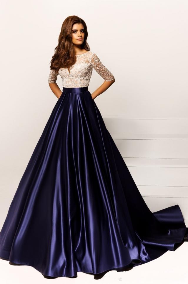 purple evening dresses
