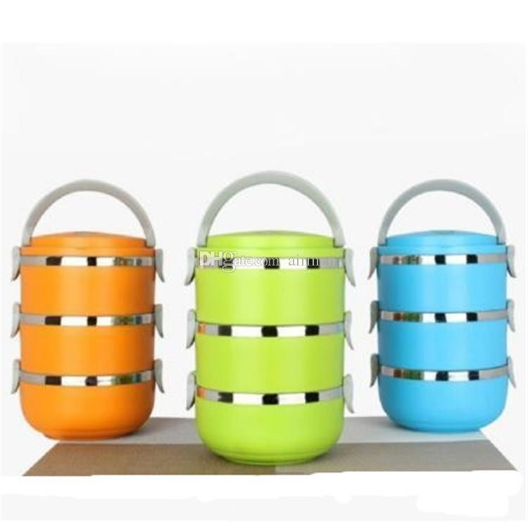 Wärmedämmige Lunchbox Bento Picknickaufbewahrung Mess Blechfutter Jar Multilayer Edelstahl Für Studenten Kinder Outdoor Camping