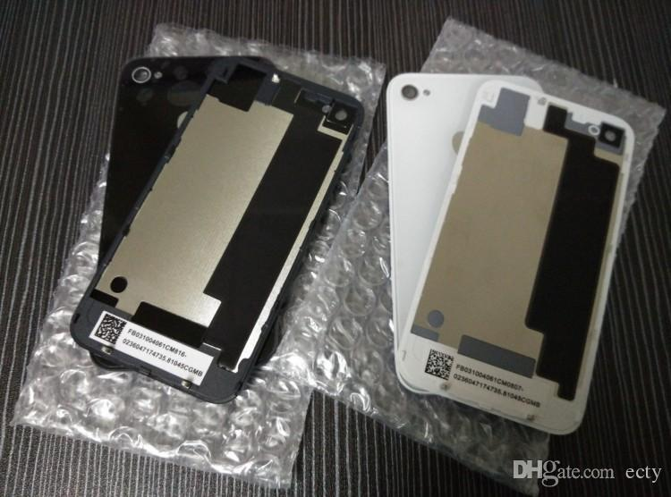 Replacement Back With Flash Diffuser Glass Battery Housing Door Cover Black White for iphone 4 4G 4s by post or epacket