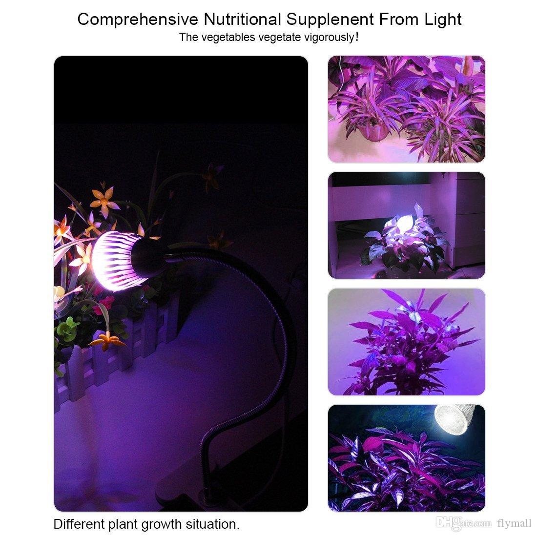 LED Plant Grow Lights 5W 7W Desk Grow Lamp Full Spectrum with Spring Clamp and Gooseneck Arm for Indoor Plant Hydroponic Garden Greenhouse