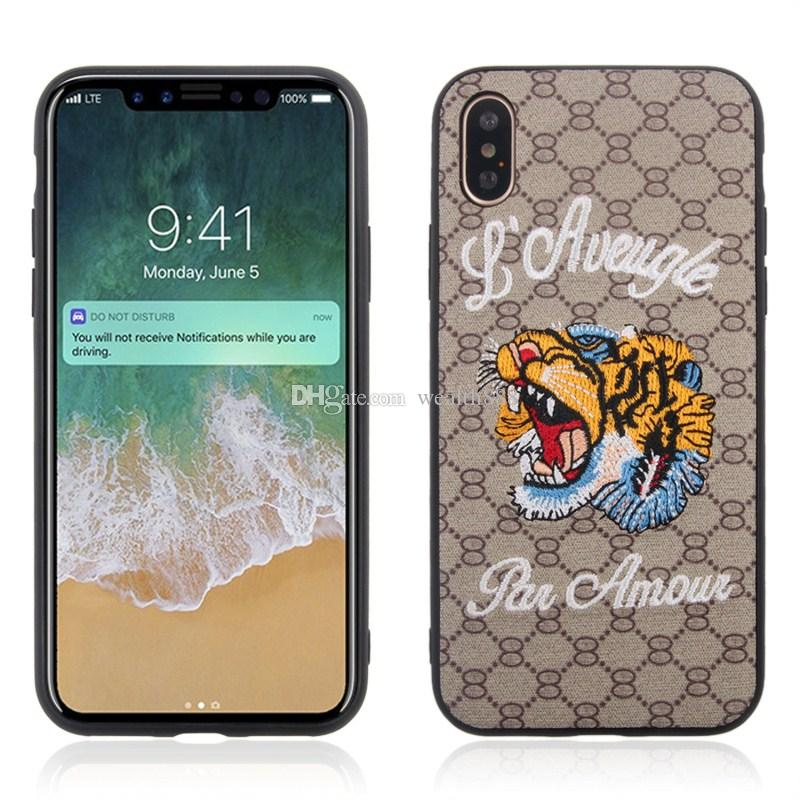 stylish animal embroidery case for iphone xr xs max x 8 7 6s plusstylish animal embroidery case for iphone xr xs max x 8 7 6s plus phone cases high quality tpu back cover customize cell phone case fashion cell phone cases