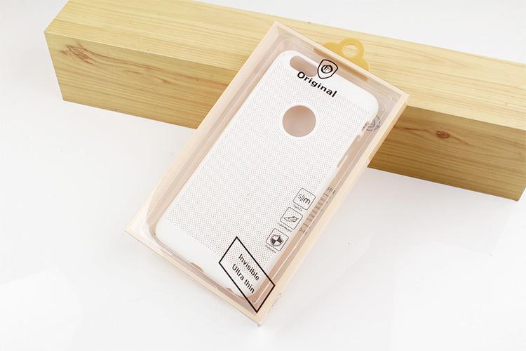 por atacado à prova de poeira-fashion phone shell caso caixa de embalagem para o iphone 7 7 plus mobile phone case pvc embalagem clara