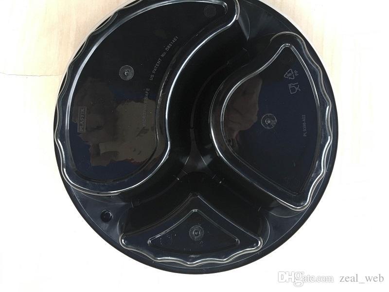 FEDEX Canadá EUA usando recipientes de caixa redonda Bento Lunch com tampa clara / japonês Bento Box / conjunto de contêiner de armazenamento