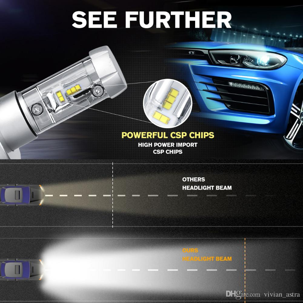 X3 Type H4 H7 H11 9005 9006 H13 Car LED Headlights Bulbs 50W 6000LM CREE Chips All in one CSP LED Headlamp 3000K 6500K 8000K