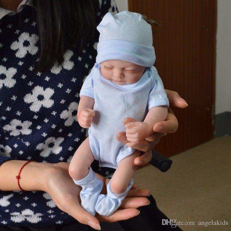 Full body silicone reborn baby dolls Reborn Baby Dolls Handmade Reborn 11 inch Real Looking Newborn Baby Girl Silicone Realistic Doll