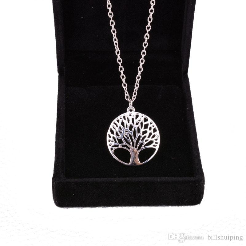 New Tree of Life Necklace Pendant Jewelry Silver Family Christmas Style Charm Jewellery Gift
