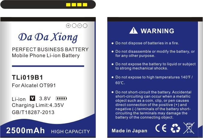 2500mAh TLi019B1 Bateria TLi019B2 para Alcatel OT991 916D 6010 Alcatel ONE TOUCH C7 OT-7041 7041D dupla CAB1900003C2 Bateria TCL