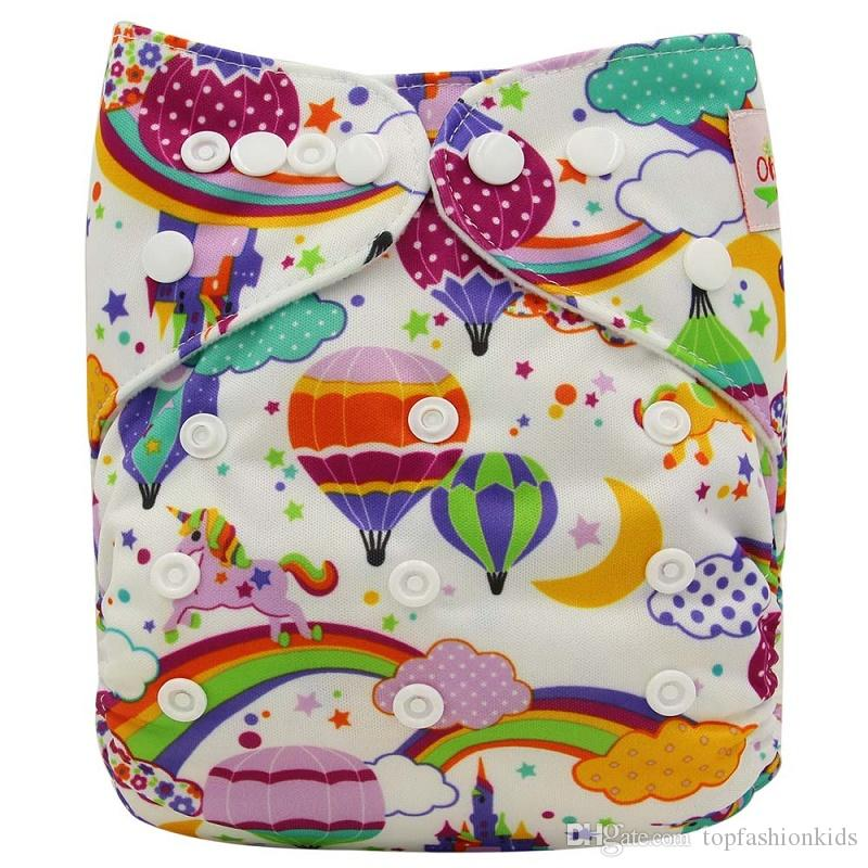 Cloth Diapers With Animals Patterns Baby Diapers 2019 New Unicorn Print Reusable Nappies Designer Diapering Adjustable Size