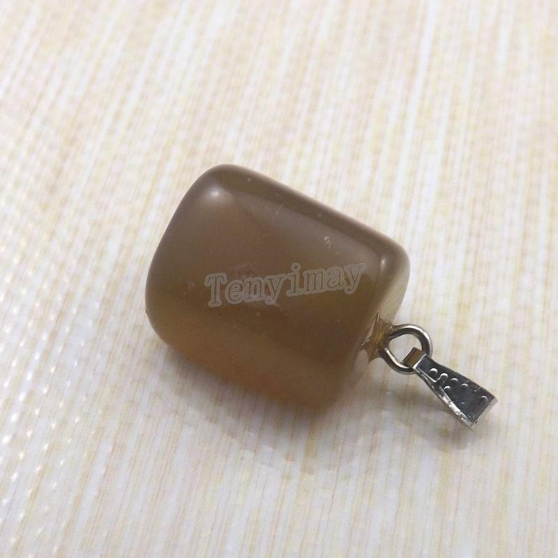 목걸이에 대한 혼합 로트 불규칙 천연 돌 펜던트 무료 배송 / 독특한 돌 매력이 맞는 목걸이