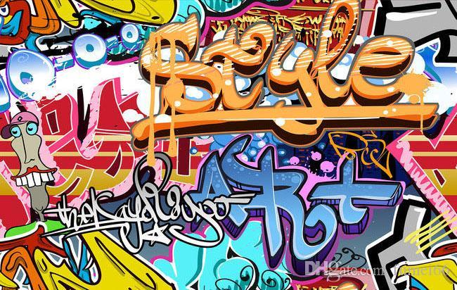 Carta da parati artistica astratta moderna su ordinazione della carta da parati della foto 3D i bambini Carta da parati dei graffiti di stile del fumetto la stanza del bambino