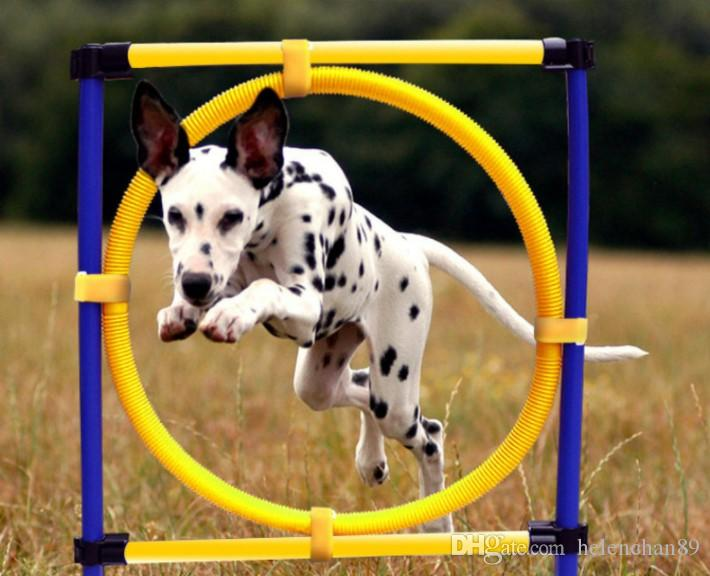 Outdoor Training Equipment Pet Dog Agility Exercise Sports Obedience Show Activity Hoop Jump Game Exercise Pole Carrying Case