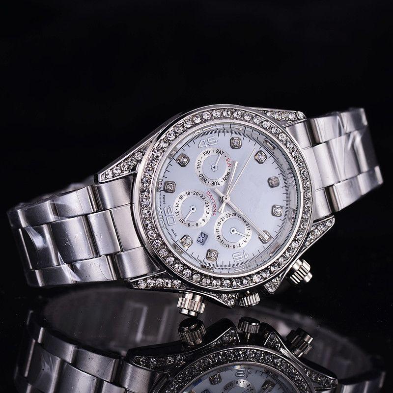 2017 Luxo GENEVA Relógios Das Mulheres Diamantes Relógios Pulseira Senhoras Designer de Relógios De Pulso 3 Cores Frete Grátis 0362
