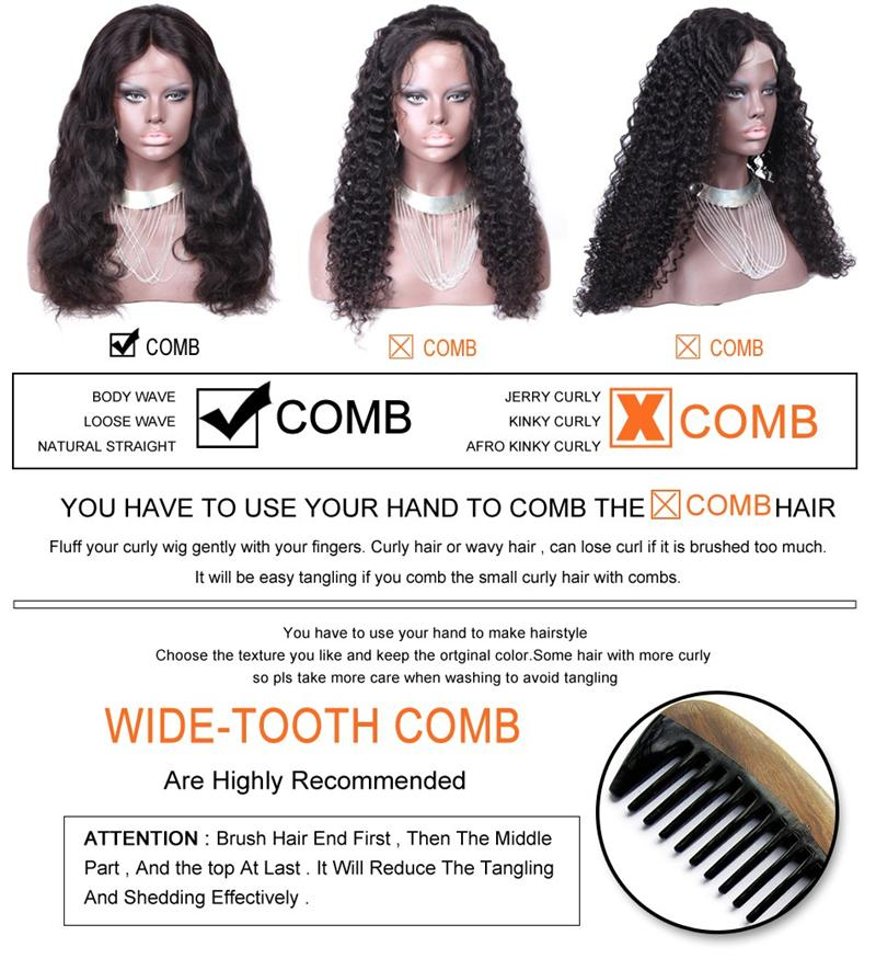 Moda corpo ondulado de alta densidade 130% -50% cabelo humano virgem brasileiro u parte perucas com pentes frete grátis