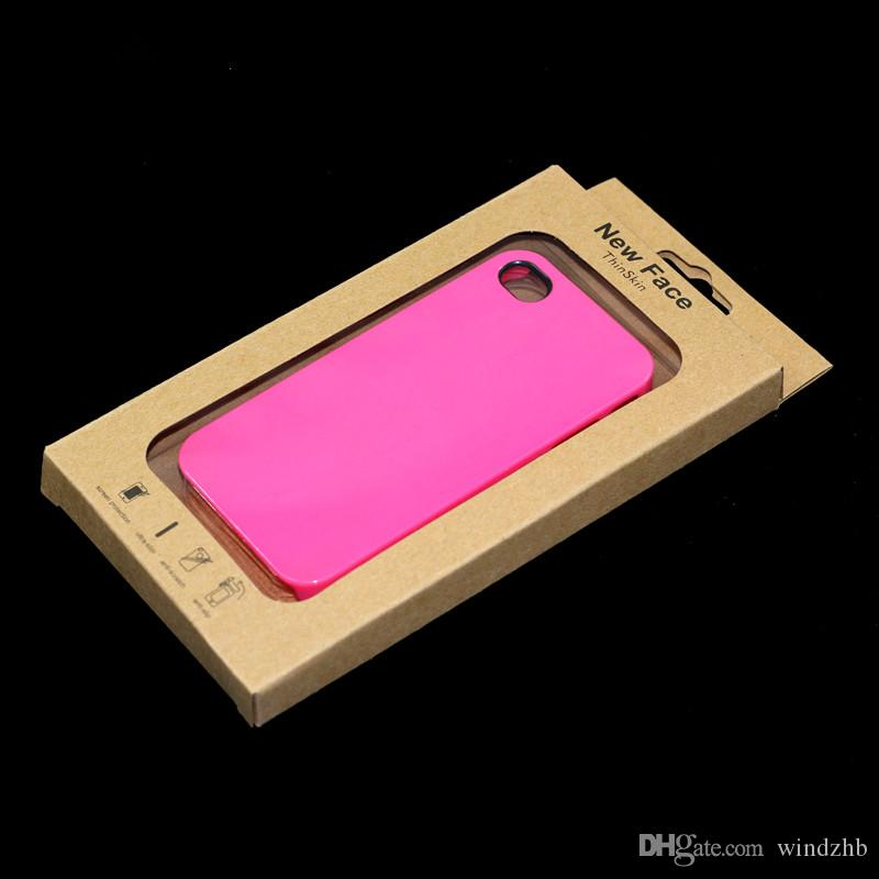 Goede kwaliteit Kraft Craft Paper Retail Packaging Box voor Samsung S5 S4 S3 I9300 N7100 iPhone 4 4S 5 5S 6 4.7 Inch Mobiele Telefoon Case Cover DHL