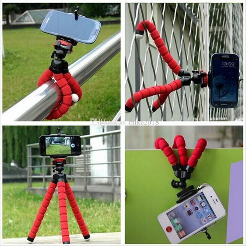 Venta caliente Car Phone Holder Flexible Octopus Tripod Bracket Selfie Stand Mount Monopod Styling Accesorios para teléfonos inteligentes móviles