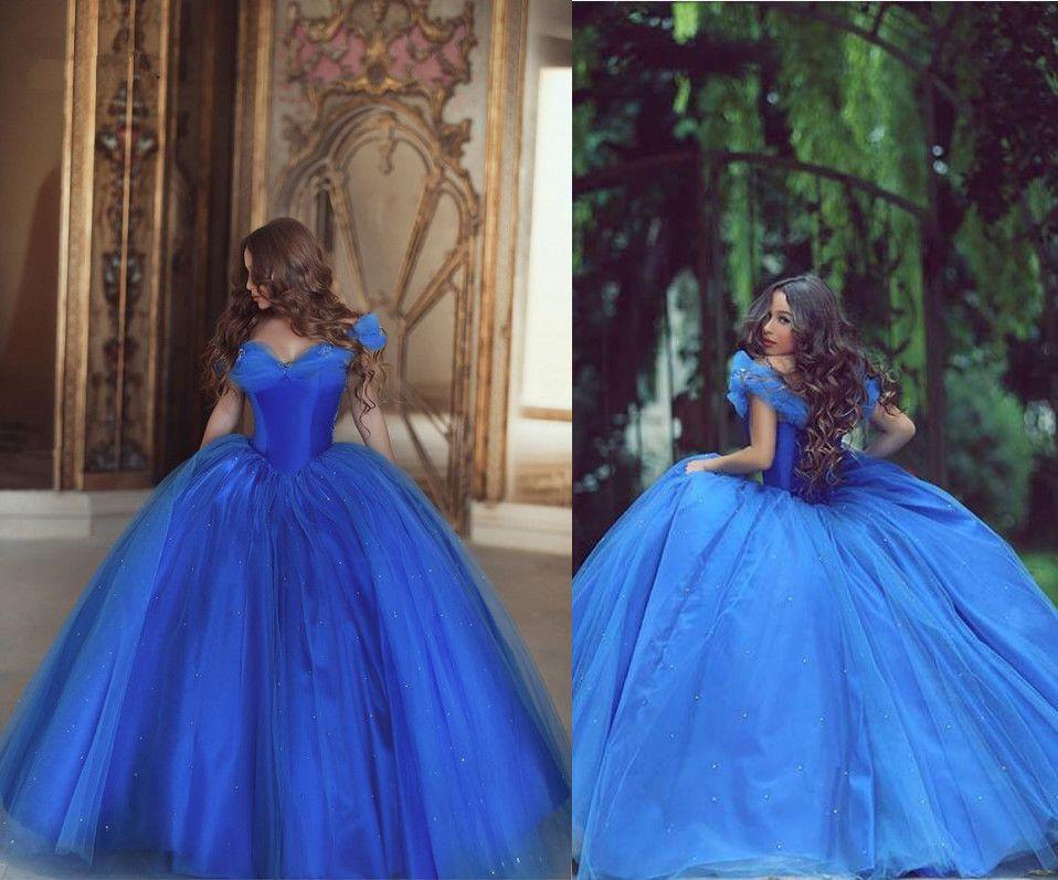 Vestido De 15 Anos Royal Blue Cinderella Quinceanera Dresses Cheap ...