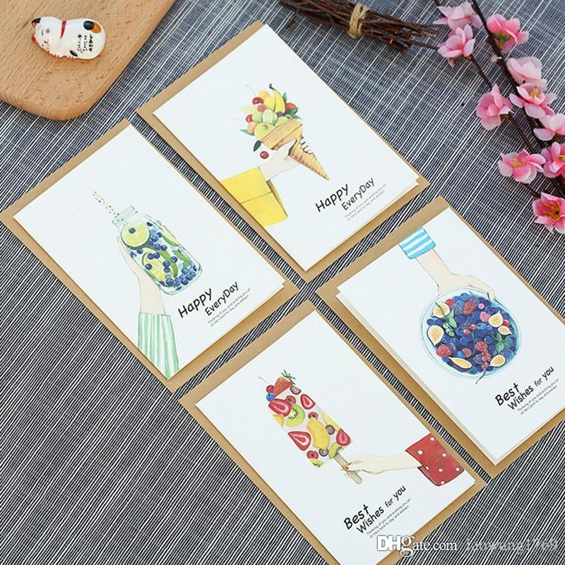 Sweet Ice Cream Christmas New Year Message Card With Envelope ...