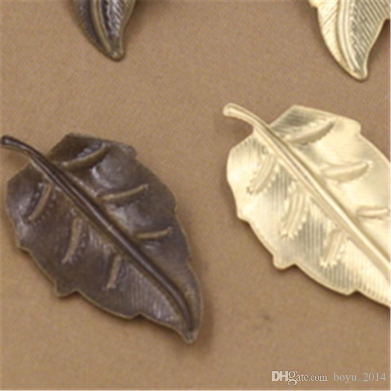 11x22MM Leaf Charms European Style Wholesale Brass Material Vintage DIY Jewelry Pendant Charms