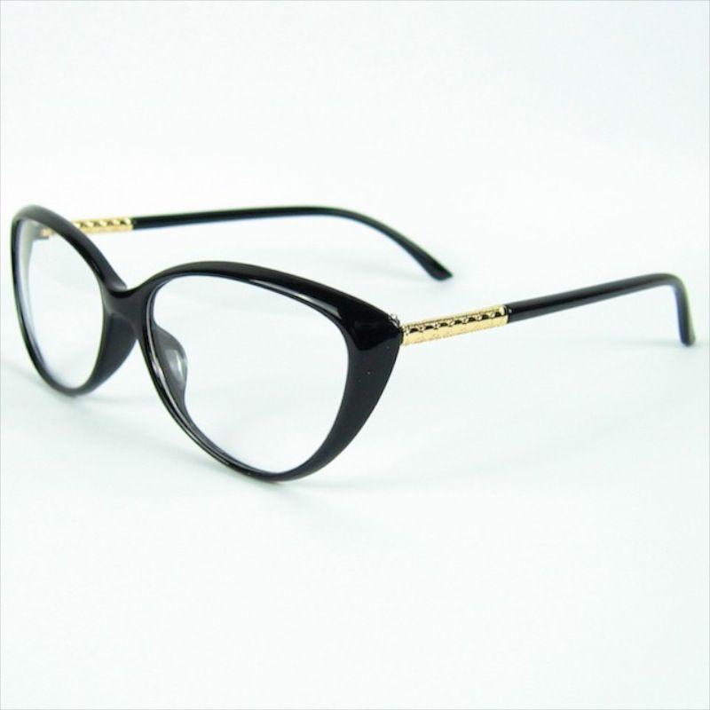 Cat eye Succinct Curve Shape Optical Frame Women Love Fashion Glasses Decoration Optical Frame Fashion Design Eyeglasses Frame