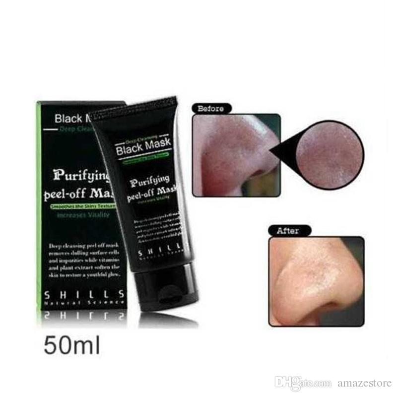 Shills Peel-off Suction Black Mask Face Care Cleaning Tearing Style Pore Strip Deep Cleansing Nose Facial Mask Remove Black Head DHL Free