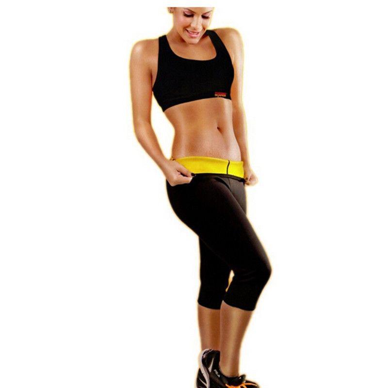 Hot Shapers Sauna Sweat Pants Slimming Workout Pants Women Sport Body Shaper Panties Gym Sports Thermal Underwear