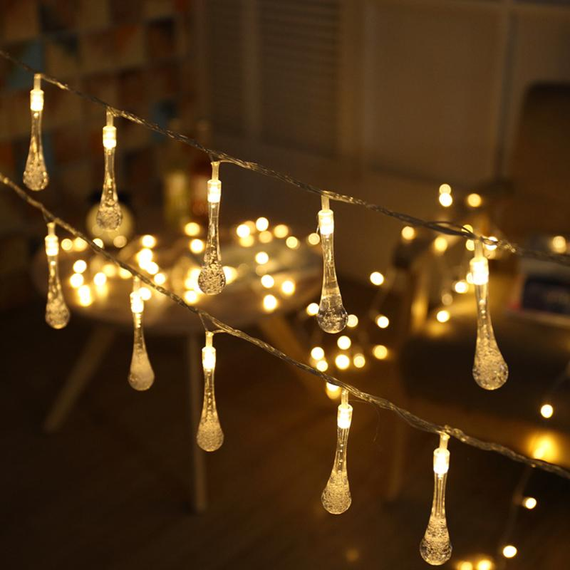 Wholesale Led Fairy String Lights 5m 50 3xaa Batteries Battery Operated Crystal Bubble Water Drop Ball Christmas Wedding Garden Light Buy