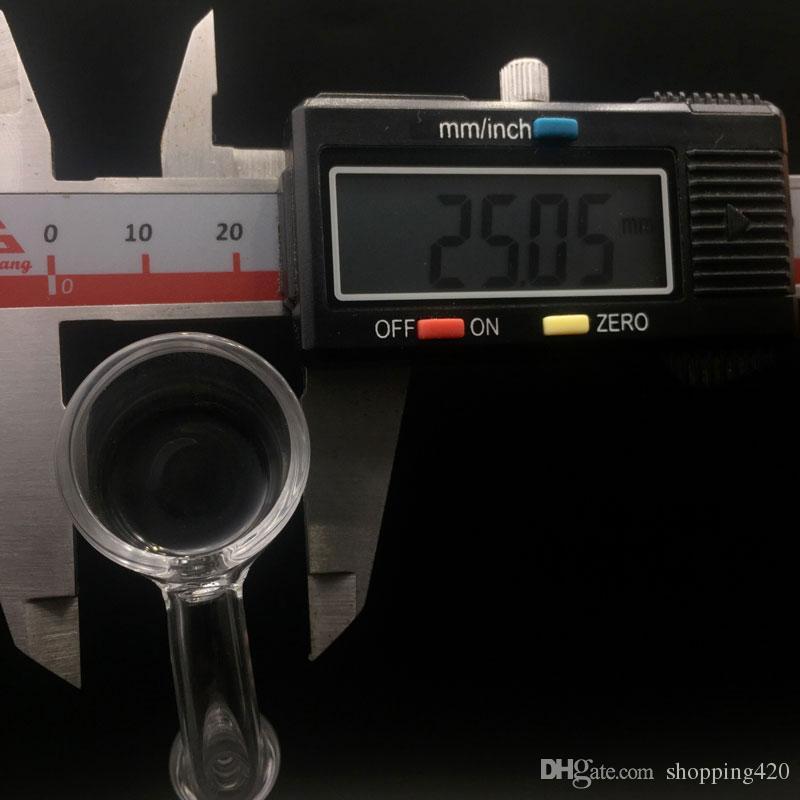 2mm XL 25mm OD Flat Top Quartz Banger Nails 45/90 Degrés avec bouchon en verre de carb libre
