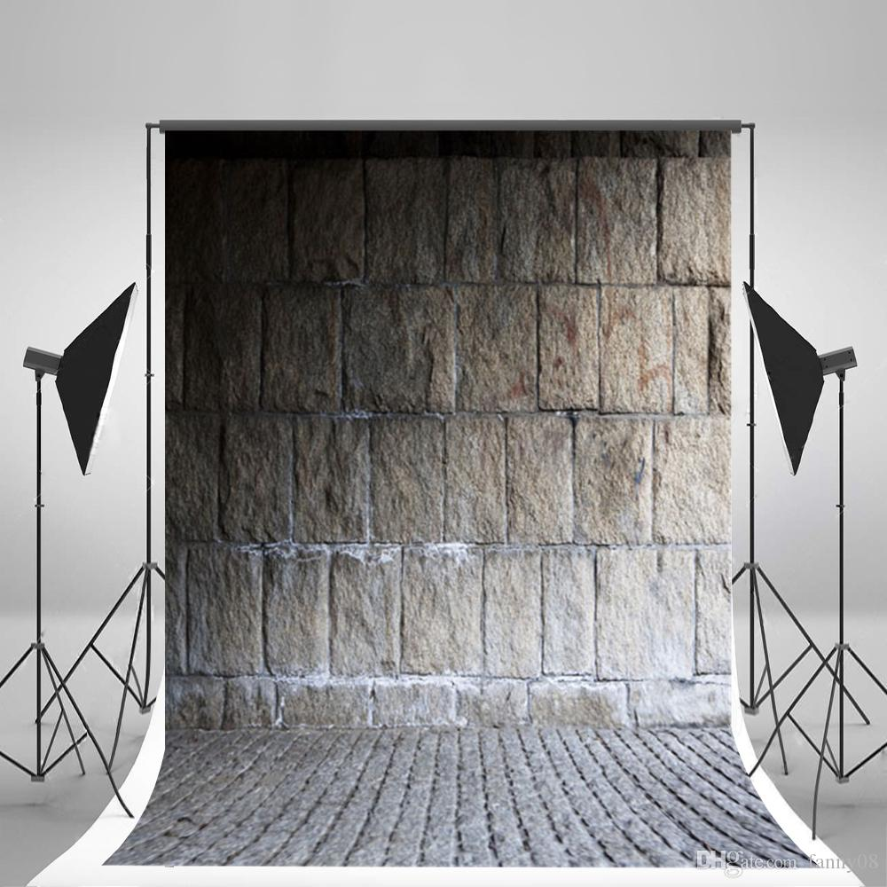 Cotton Wrinkles Free Photo Studio Background Brick Wall Photography Backdrops for Children