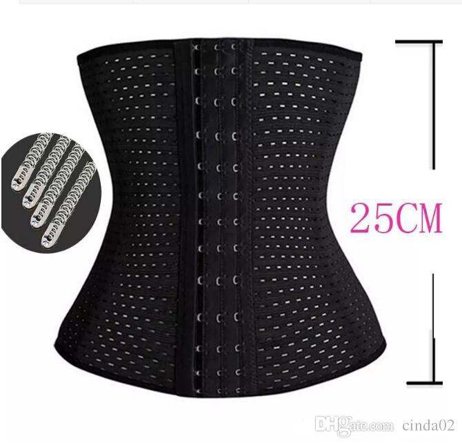Gute Qualität Nylon Schwarz Body Frauen Taille Trainer Bauch Schlanker Shapewear Ausbildung Korsetts Cincher Body Shaper Bustier kostenloser Versand