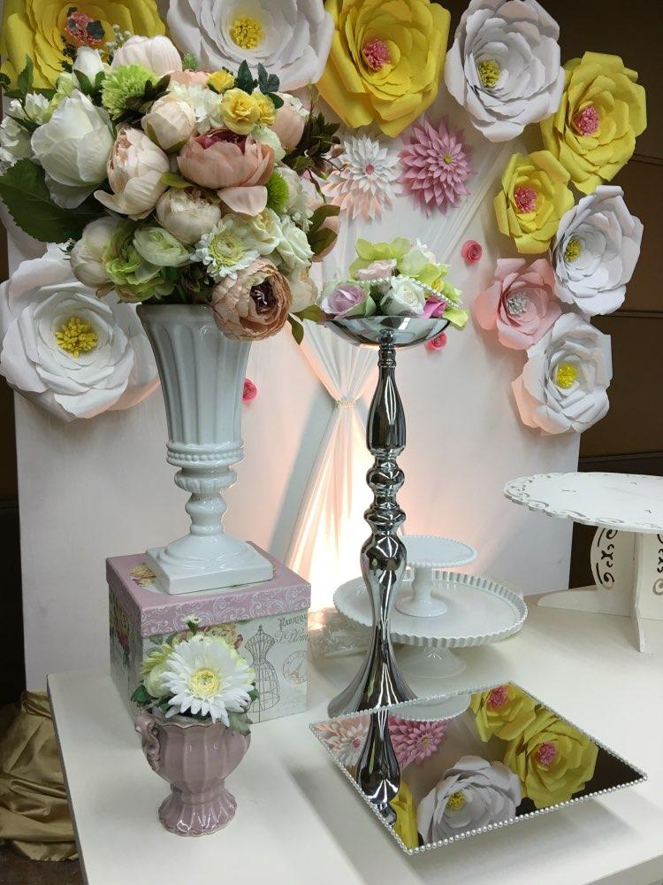 wedding flower ball holder display vase wedding table decor accessories centerpieces Candle Holder Stand Flowers Vase Candlestick Candelabra