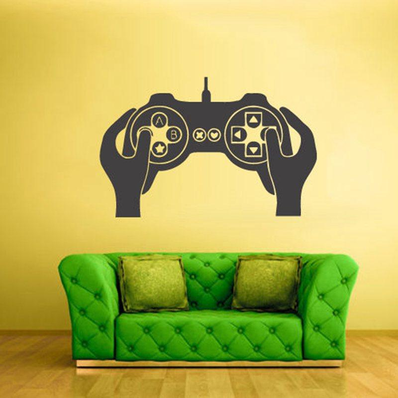 Nice Video Game Controller Sticker Play Decal Gaming Posters Gamer Vinyl Wall  Decals Parede Decor Color Choose Video Game Sticker Mirror Wall Stickers  Modern ... Part 10