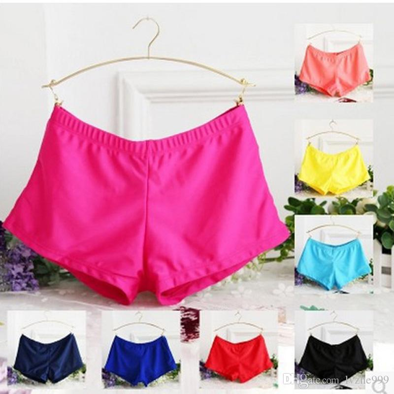New Women Ladies Swim Shorts Yoga Gym Swimming Trunks Boxer Shorts Bathing  Suit 5 Size UK 2019 From Lvzhe999 b569bf9d4