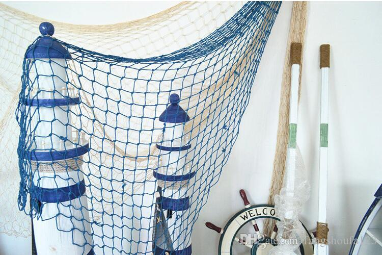 tropical pirate fishing net fish net netting decorative home nautical decor wall party bar beach. Black Bedroom Furniture Sets. Home Design Ideas