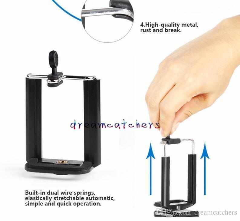 Evrensel Mini Standı Monopod Tripod Dağı Tutucu Smartphone Telefon Kamera Standı Klip Tutucu Adaptörü iphone Samsung Cep Telefonu Için