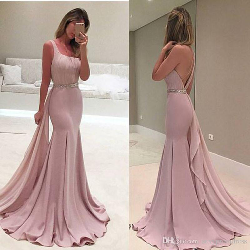 Pink Straight Evening Dresses